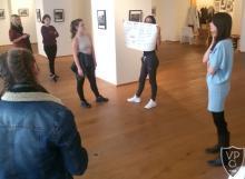 Múzeumpedagógiai foglalkozás végzősökkel művészetórán