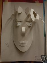 Művészetek óra, végzősökkel - arc papírdombormű készítés