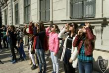 a napfogyatkozás megfigyelése