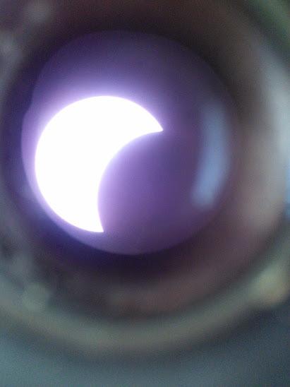 a részleges napfogyatkozás
